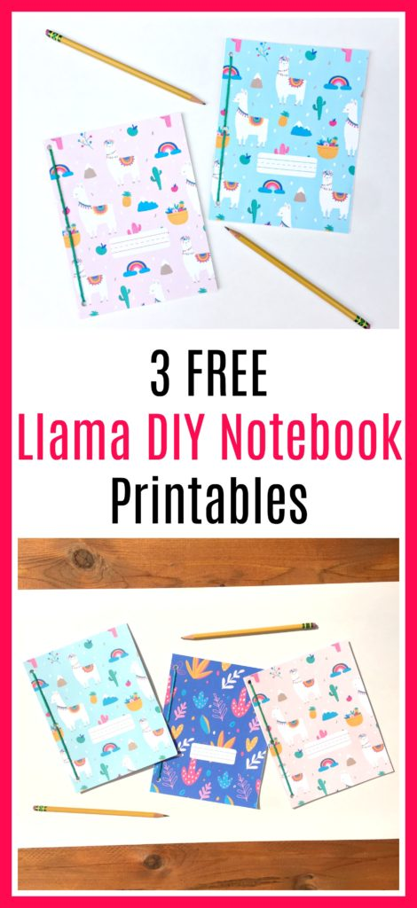 3-Free-Llama-DIY-Notebook-printables
