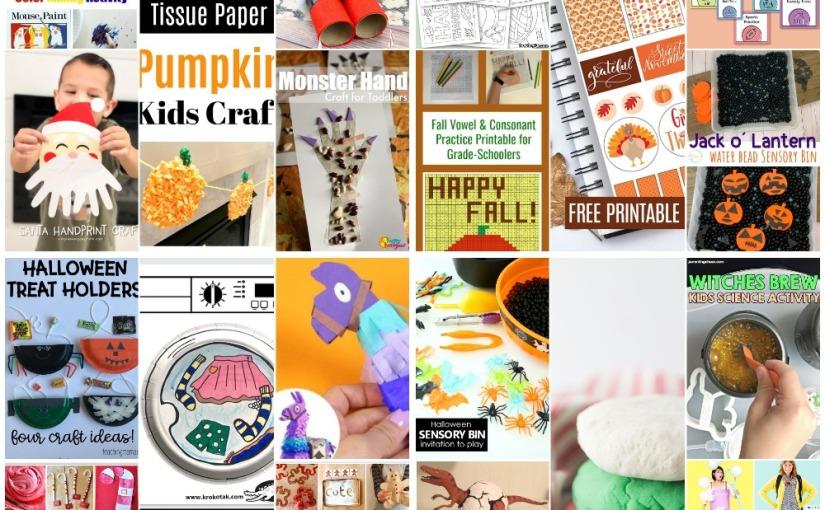 Santa and Monster Handprints, Santa Binoculars, DIY Fortnite Lama, Thanksgiving Tracing, Visual Schedule andmore