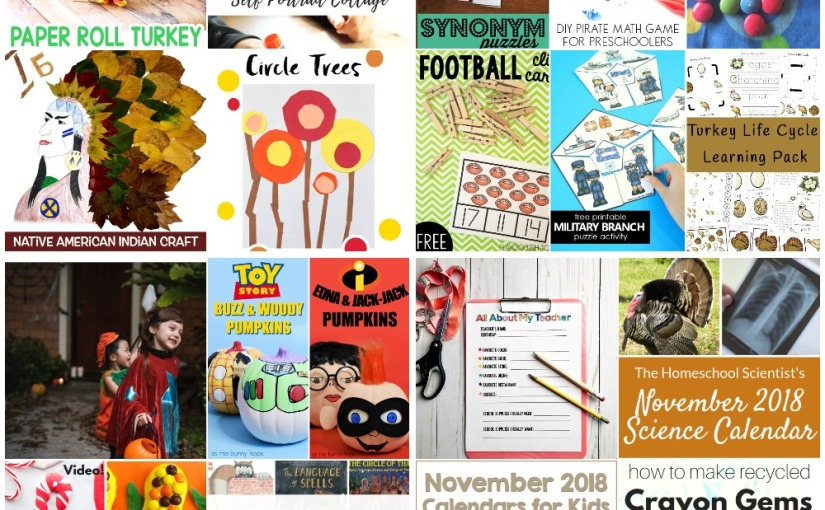 Turkey and Native American Crafts, Synonym Puzzles, November Calendars, Christmas Slime and PumpkinPainting