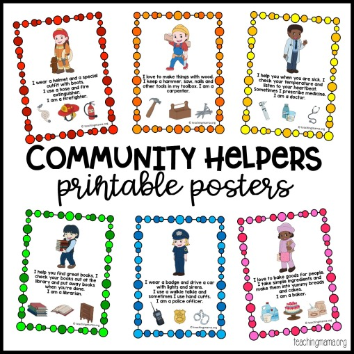 community-helpers-posters