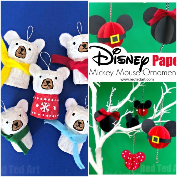 Cork Polar Bear and Paper Mickey Mouse DIY