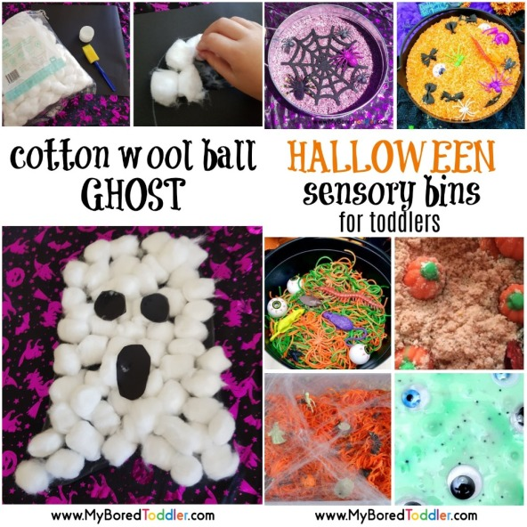 Cotton wool ball Ghost and Halloween sensory bins.jpeg
