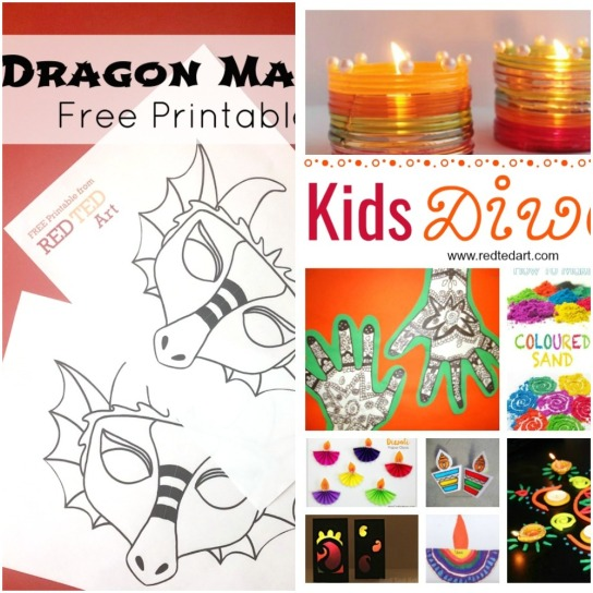 Dragon Mask Coloring Page and Kids Diwali Ideas and Crafts.jpeg