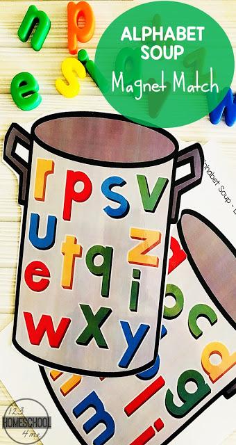 FREE Alphabet Soup - alphabet magnet abc matching activity for preschool, kindergarten, and first grade kids.jpg