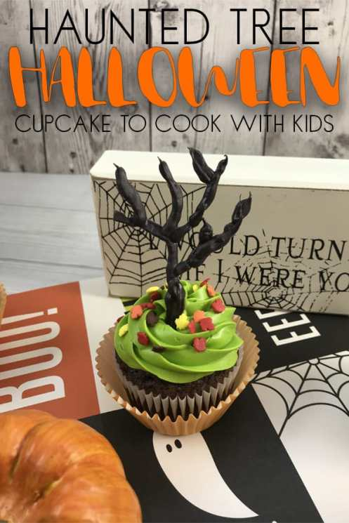 haunted-tree-halloween-cupcake-to-cook-with-kids