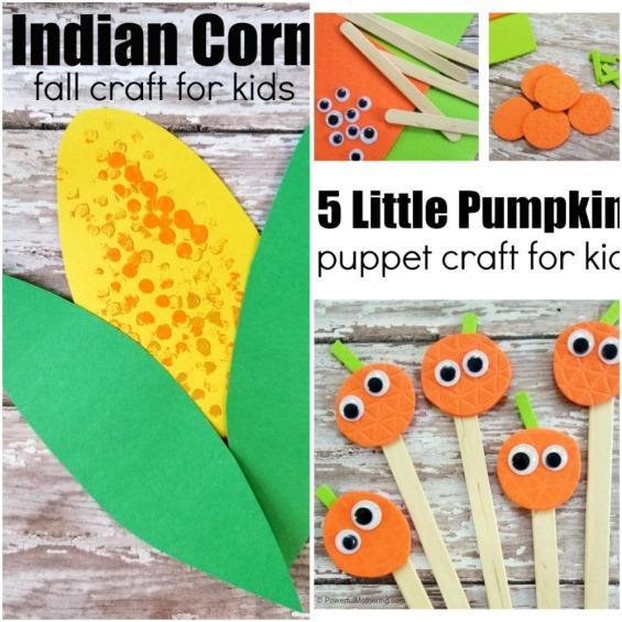 LEGO Indian Corn Craft and 5 Little Pumpkins Puppet craft.jpeg