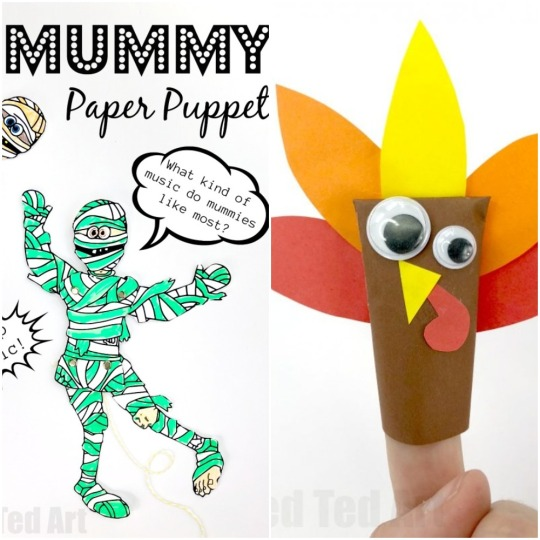 Paper Mummy and Easy Turkey craft