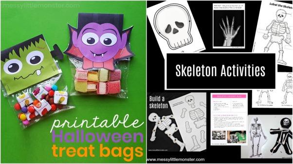 Printable Halloween Treat Bags and Skeleton Activities.jpeg
