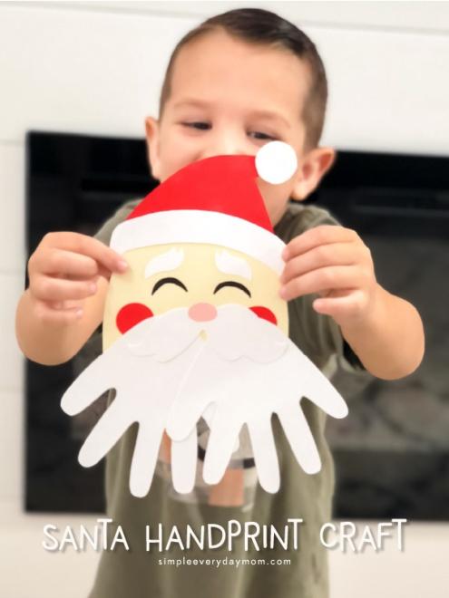 Santa And Monster Handprints Santa Binoculars Diy