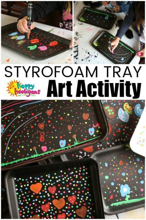 Styrofoam-Tray-Art-Activity-for-Kids