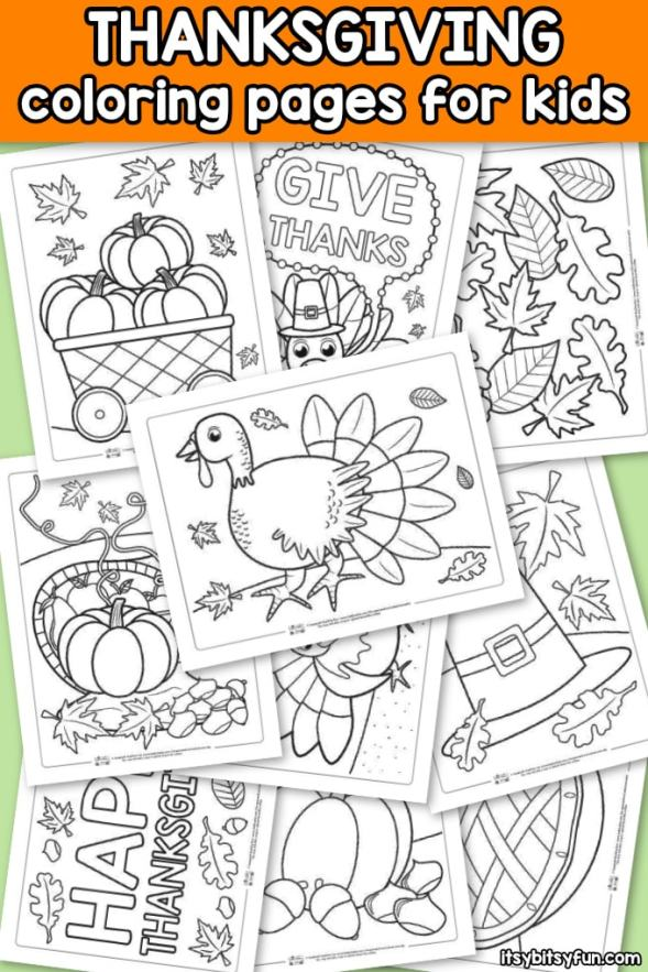 Thanksgiving-Coloring-Pages-for-Kids.-10-free-coloring-pages-to-keep-the-kids-busy-and-entertained