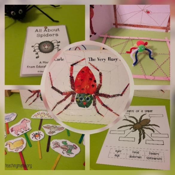 Very Busy Spider Printable & Worksheets | Teachers Pay Teachers | 585x585