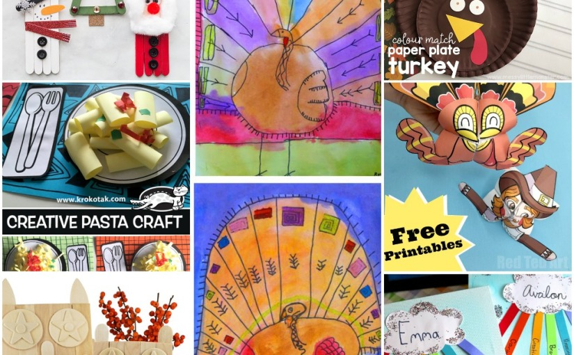 11.07 Crafts: Christmas Popsicle, Turkeys, Pasta, Owl and KindnessCloud