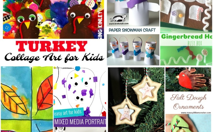 11.08 Crafts: Leaf Art, Paper Snowman, Mixed Portraits, Christmas Ornaments and Gingerbread House BusyBox