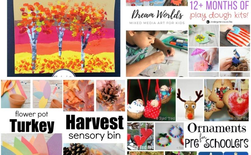 11.09 Crafts and Sensory: Flower Pot Turkey, Mixed Media Art, Christmas Decorations and PlaydoughActivities