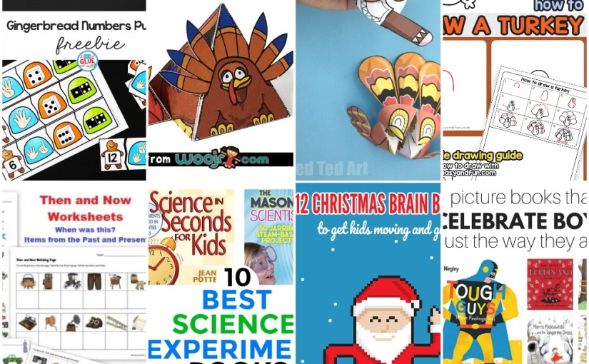 11.13 Printables and more: Ginger Numbers Puzzle, Thanksgiving Activities, Christmas Songs and Books List