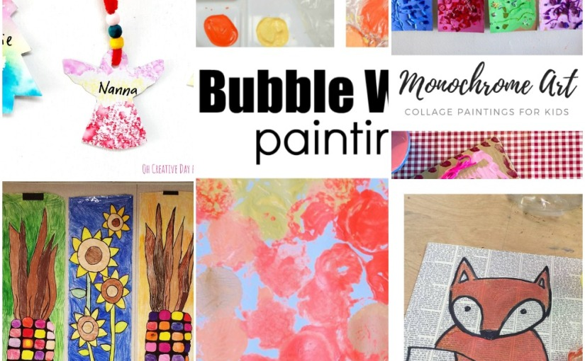 11.20 Crafts: Bubble Wrap Painting, Monochrome Art, Gift Tags, Easy Fox and Fall FestivalBanners