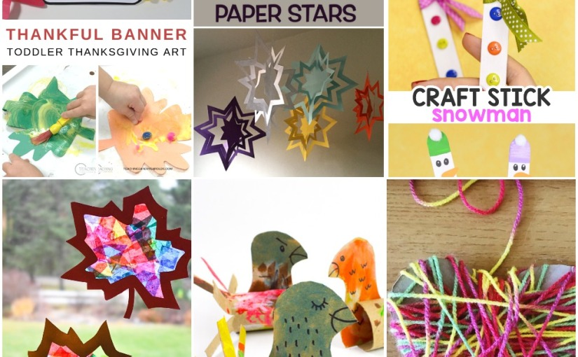 11.21 Crafts: Yarn Heart, Leaf Sun Catcher, Stick Snowman, Turkeys and Paper Stars