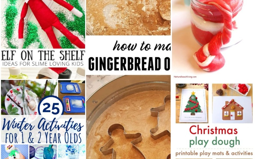 11.21 Sensory and Fine Motor: Gingerbread Messy Play, Candy Cane Slime and Christmas/Winter Activities