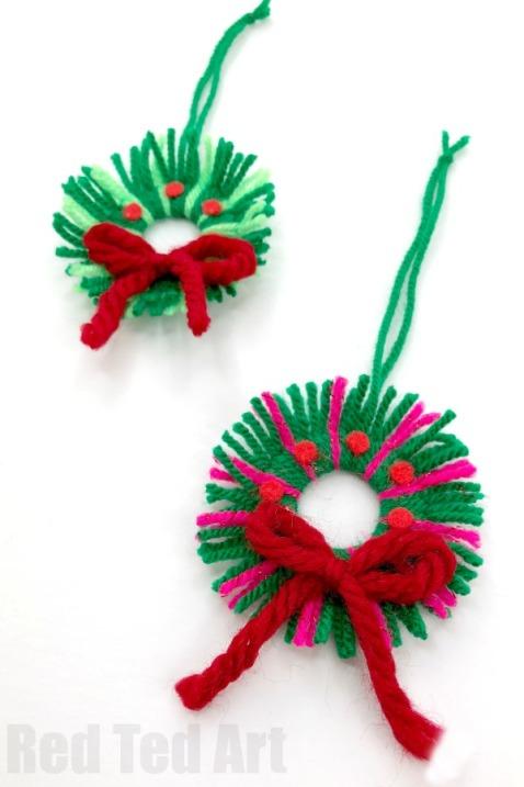 Yarn-Mini-Wreath