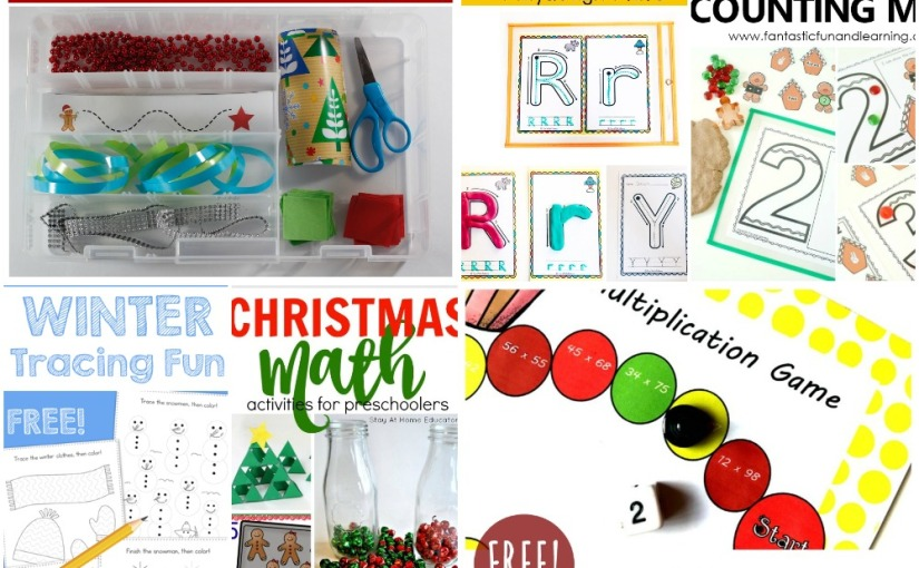 12.03 Printables: Winter Tracing, Alphabet Tracing, Gingerbread Counting, Double Multiplication, Christmas Math