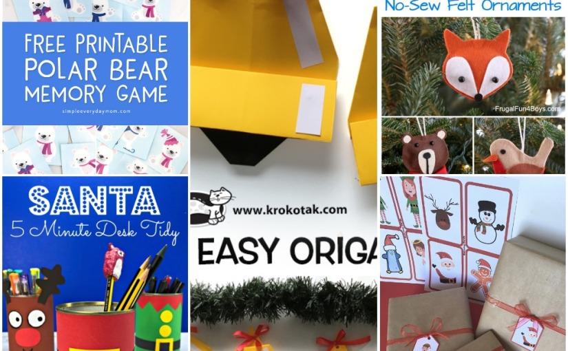 12.05 Santa Pencil Pot, Origami Bell, Felt Animal Christmas Ornament, Polar Bear Memory Game, Christmas GuessingGame