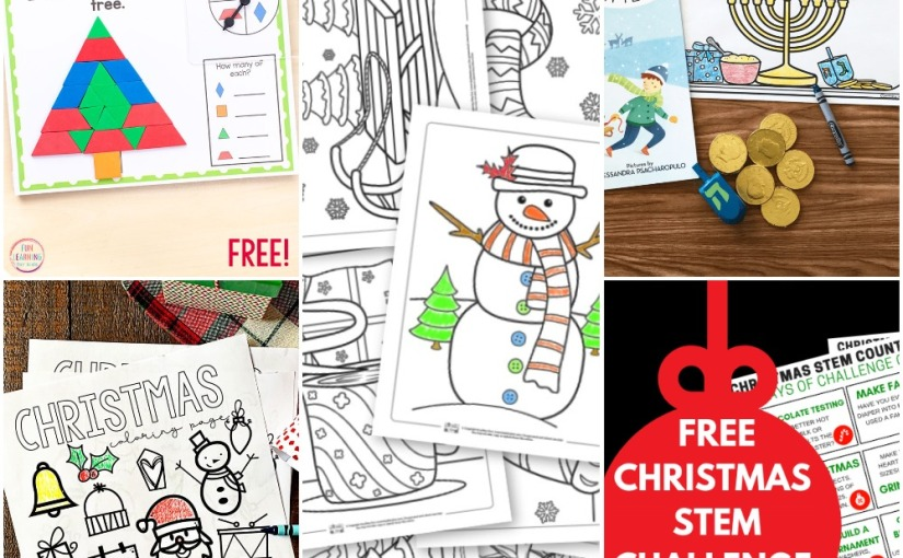 12.05 Printables: Christmas and Winter Coloring Pages, Hanukkah Idea, Christmas Tangram, ChristmasScience