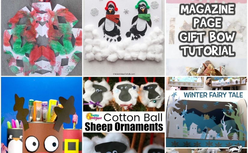 12.06 Crafts: Christmas Snowflake, Penguin, Sheep Ornament, Reindeer Pencil Pot, Winter FairyTale