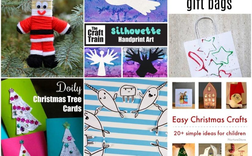 12.08 Crafts: Christmas Bags, Christmas Handprint, Santa Ornament, Christmas Tree Crads and Easy ChristmasCrafts