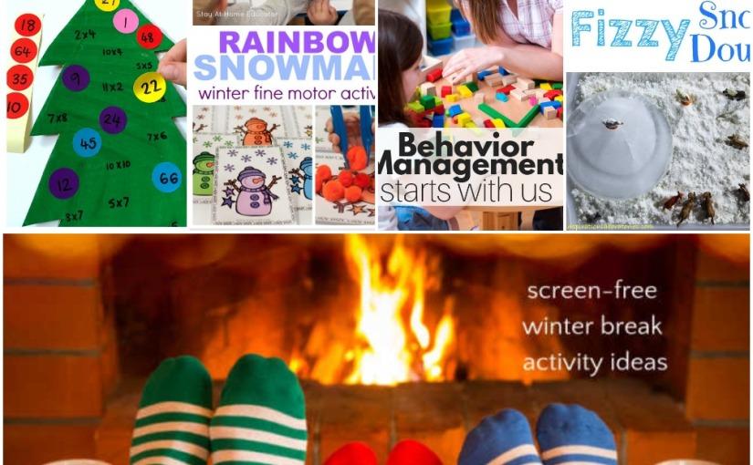 12.13 Christmas Tree Multiplication, Rainbow Snowman, Winter Break Planner, Fizzy SnowDough