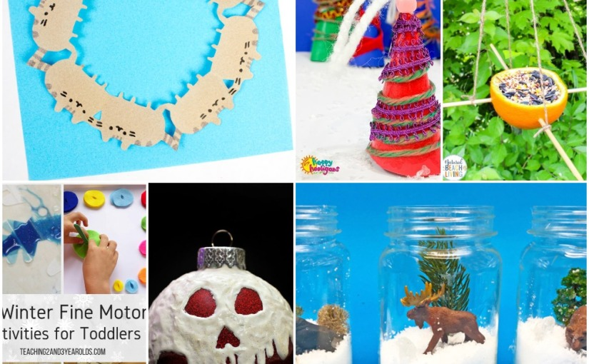 12.14 Crafts: Christmas Tree Ornament, Cat Snowflakes, Poison Apple Ornament, Orange Bird Feeder, Winter FineMotor
