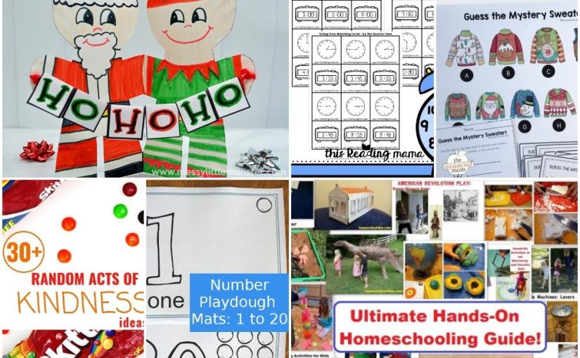 12.15 Santa & Elf, Number Mats, Telling Time, Christmas Problem Solving Activity, Hands-OnActivities