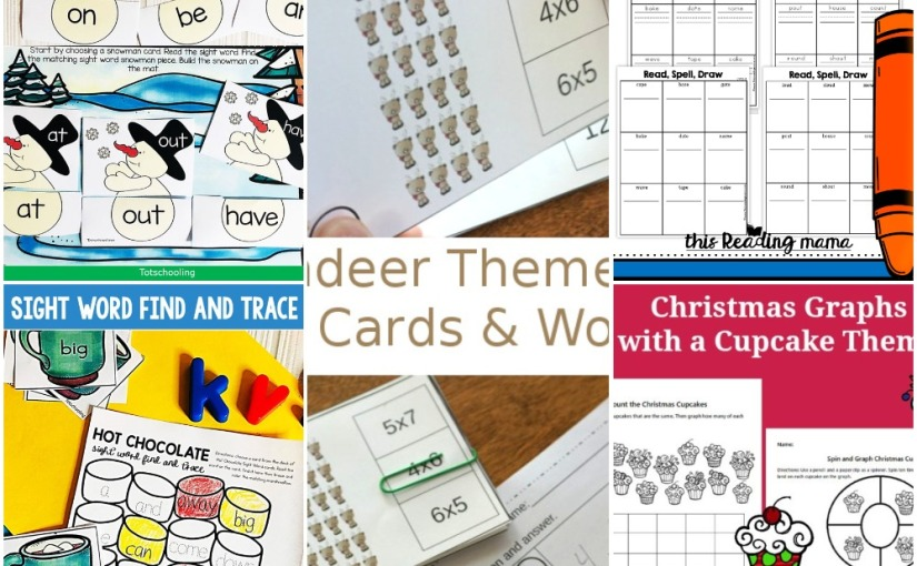 12.17 Printables: Reindeer Worksheets, Christmas Graphs, Hot Chocolate Word Trace, Snowman Sight Word, VowelTeam