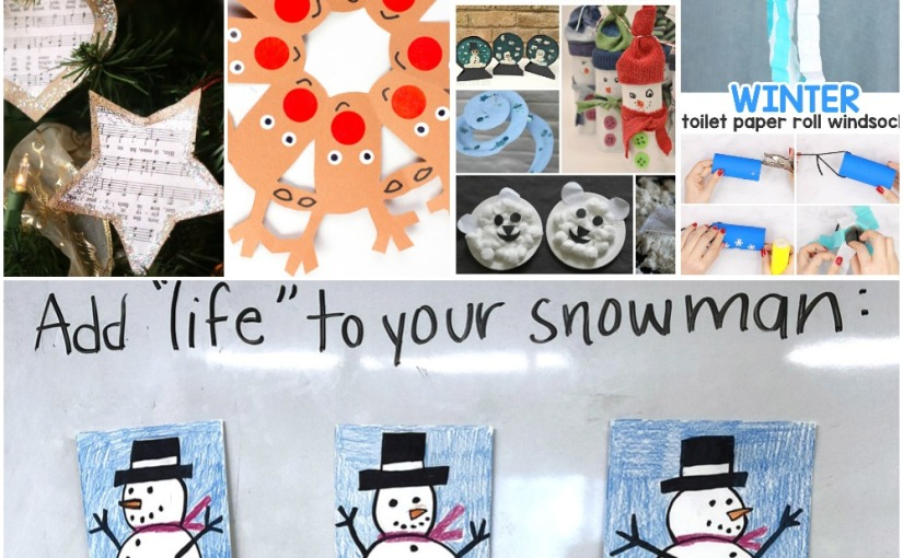 12.18 Crafts: Music Ornaments, Winter Activities, Reindeer Snowflakes, Winter Windsock, Snowman Drawing