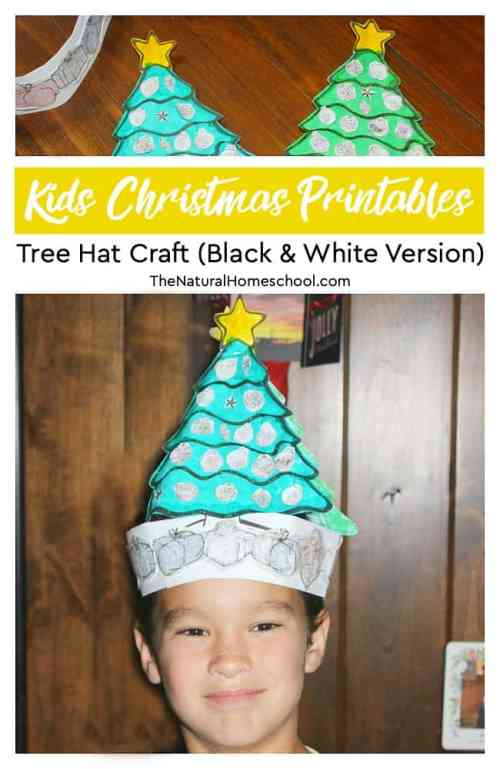 Christmas-Tree-Hat-Craft-BW-Version.jpg