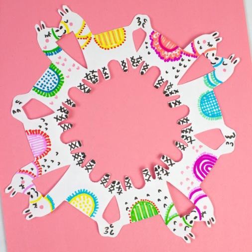 how to cut llama snowflakes.jpg