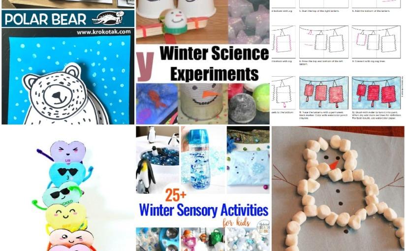 01.02 Conversation Hearts, Marshmallow Snowman, Polar Bear, Chinese Lanterns, Winter Science and SensoryActivities