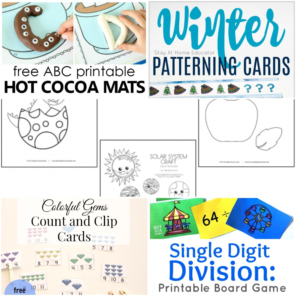 image about Printable Division Game named 01.07 Printables: Very hot Cocoa Alphabet, Printable Crafts, Gems