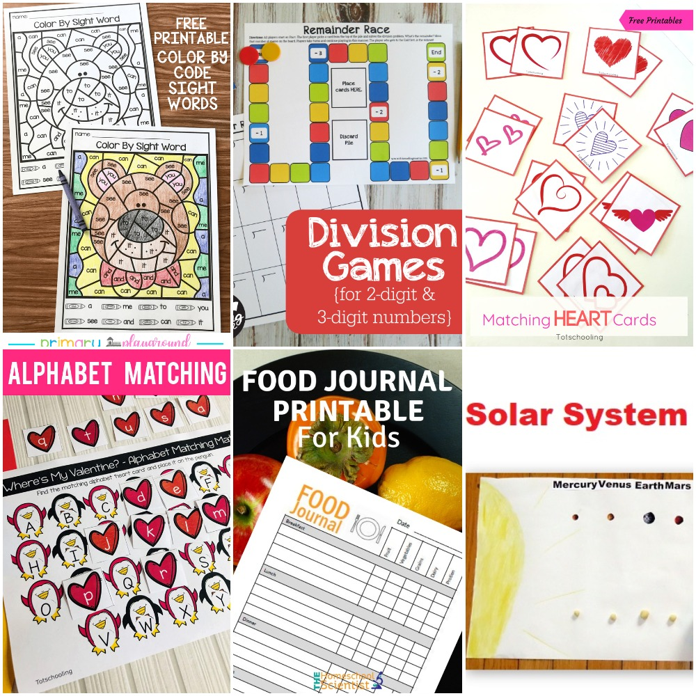 picture relating to Printable Division Games identify 01.20 Printable: Matching Middle, Coloration as a result of Sight Phrase