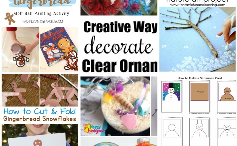 12.19 Crafts: Gingerbread Art, Winter Tree, Gingerbread Men Snowflakes, Snowman and Ornaments Painting