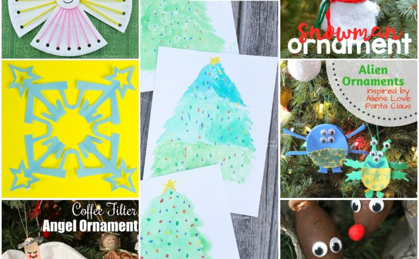 12.20 Crafts: Nativity Snowflakes, Paper Plate and Filter Angel, Yarn Snowman, Christmas Tree, Aliens and Reindeer
