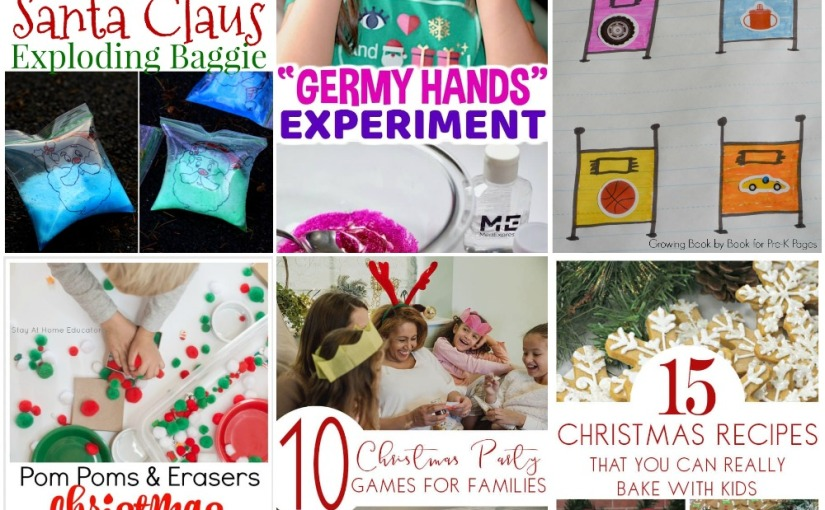 "12.20 ""Germy Hands"", Christmas Sensory Bin, Santa Claus Exploding Baggie, Christmas Party Games and Baking"