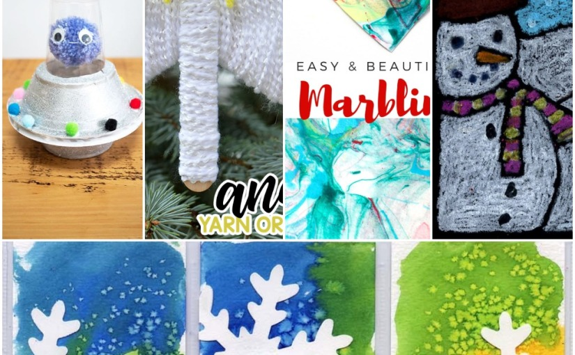 12.21 Crafts: Paper Marbling (Ebru Art), Yarn Angel, Aliens Flying Saucer, Snowflake Art, Snowman Drawing
