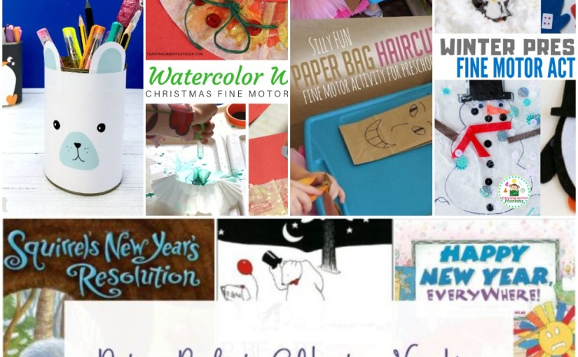 12.24 Polar Bear Craft, Paper Bag Haircuts, Watercolor for Fine Motor, Winter Fine Motor, New Year Books