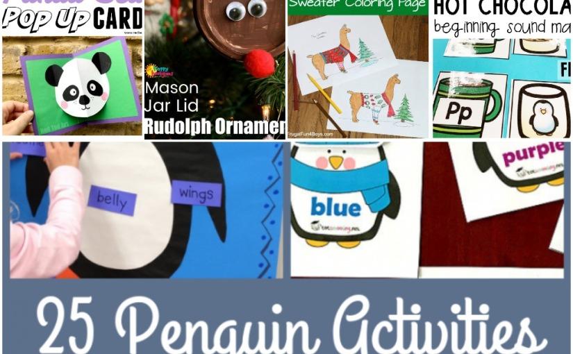 12.25 Panda Pop Up Card, Reindeer, Lama Sweater Coloring, Beginning Sound Match Printables, PenguinActivities
