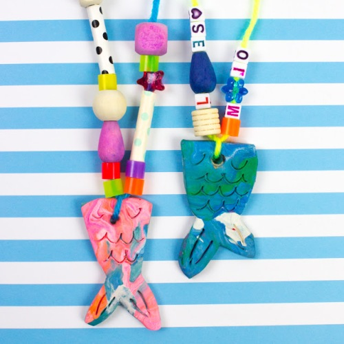 Clay Mermaid Tail Necklace Kids Craft (1 of 1)-2.jpg