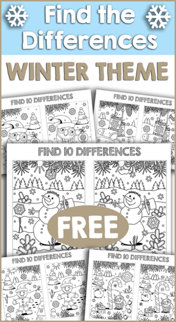 01 09 Printables Winter Color By Number And Find The