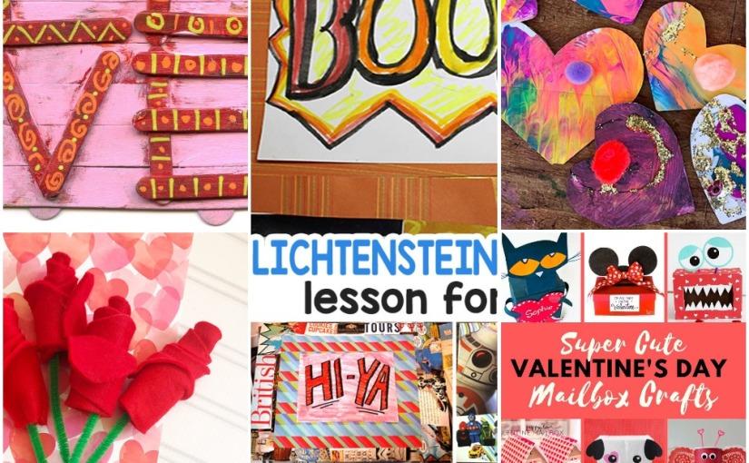 02.01 Crafts: Felt Roses, Popsicle Love, Pop Art for Kids, Colorful Hearts, Valentine's MailboxIdeas