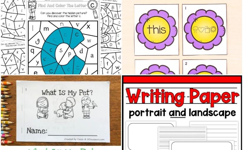 02.21 Printables: Color bu Letter, Flower Secret Code Matching, My Pet Easy Reader Book, WritingPaper