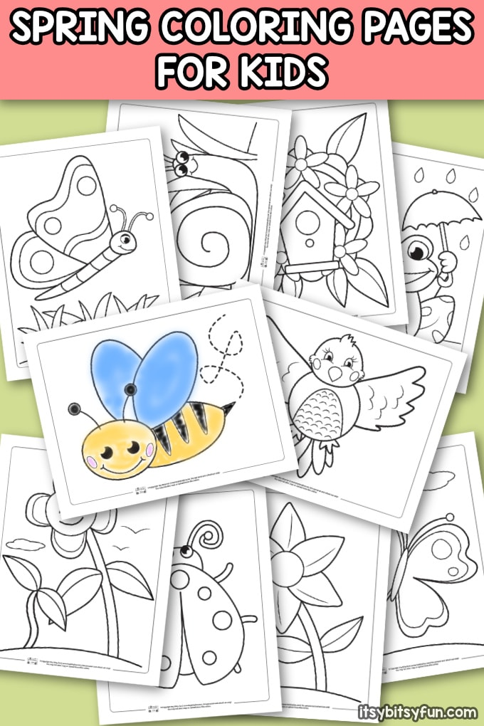 photo relating to I Spy Pages Printable called 02.28 Printables: Easter Egg and Spring Coloring Internet pages, I